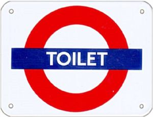 Toilet roundel small steel enamel sign (ba)